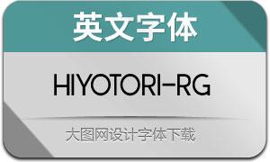 Hiyotori-Regular(英文字体)