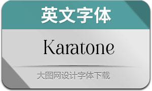 Karatone(英文字体)
