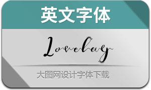 Lovelay(英文字体)