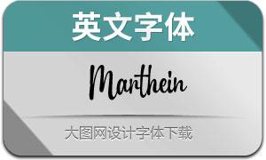 Marthein(英文字体)