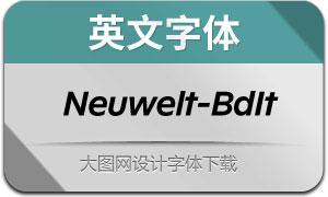 Neuwelt-BoldItalic(英文字体)