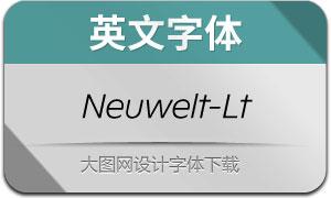 Neuwelt-LightItalic(英文字体)