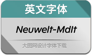 Neuwelt-MediumItalic(英文字体)