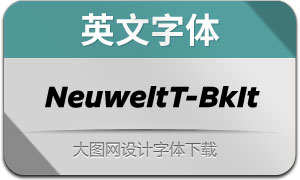 NeuweltText-BlackItalic(英文字体)
