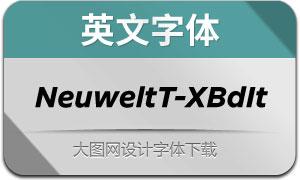 NeuweltText-ExtraBoldIt(英文字体)