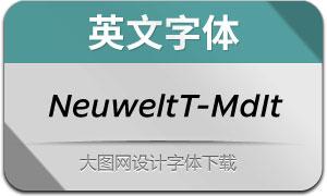 NeuweltText-MediumIt(英文字体)