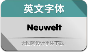 Neuwelt系列16款英文字体