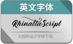 RhinattaScript(英文字体)