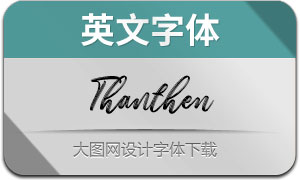 Thanthen(英文字体)