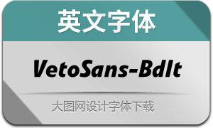 VetoSans-BoldItalic(英文字体)