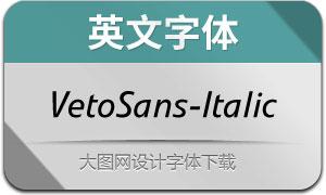 VetoSans-Italic(英文字体)