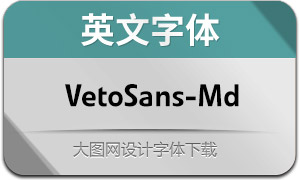 VetoSans-Medium(英文字體)
