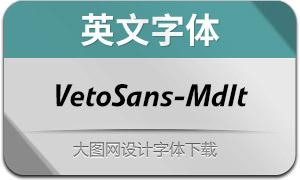 VetoSans-MediumItalic(英文字体)
