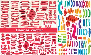 多种样式飘带主题设计元素矢量素材