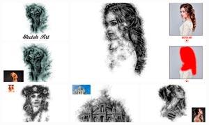 數碼照片添加鉛筆素描效果PS動作