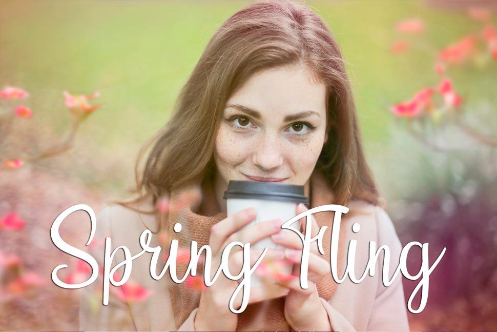 春季小清新暖色艺术效果PS动作