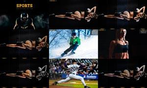 中文版体育照片后期调色处理PS动作