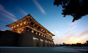 傍晚美丽的大明宫景观摄影图片