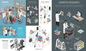 医疗器械与实验等创意设计矢量素材