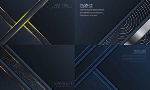 金色与银色的线条背景创意矢量素材