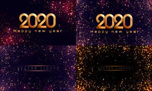 梦幻光效元素新年背景创意矢量素材