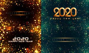 梦幻光斑元素新年背景创意矢量素材