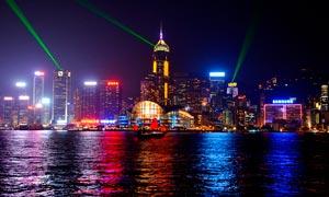 香港美丽的都市夜景高清摄影图片