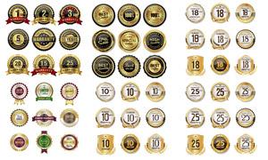 金色豪华尊贵质感标签矢量素材集V1