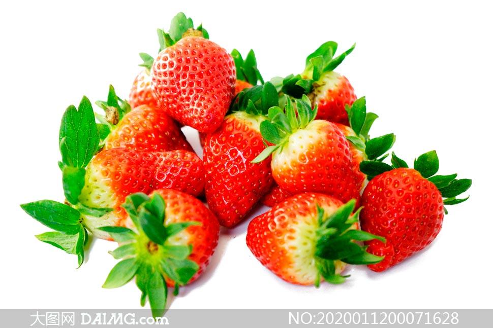 红色新鲜的草莓高清摄影图片