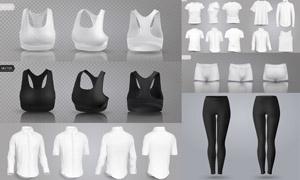 衬衫与运动内衣等主题服饰矢量素材