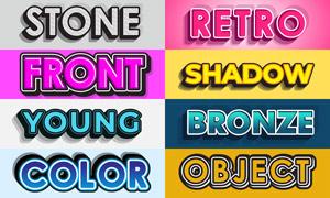 立体创意多彩英文字体设计矢量素材