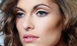 妆容卷发性感美女模特摄影高清图片