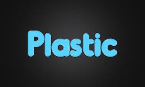 塑料质感立体效果字体贴图分层模板