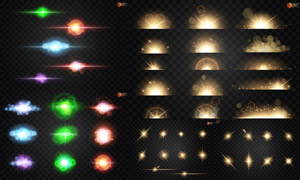 光源光效设计元素主题矢量素材集V27