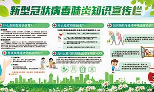 新型冠状病毒肺炎知识宣传栏设计模板