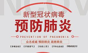 预防新型肺炎宣传海报设计PSD素材