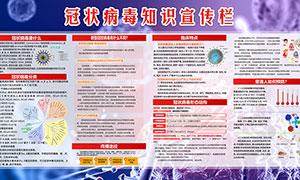 新型冠状病毒知识宣传栏PSD素材