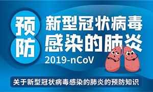 預防新型冠狀病毒感染的肺炎海報設計
