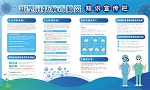 新型冠狀病毒肺炎知識宣傳欄矢量素材