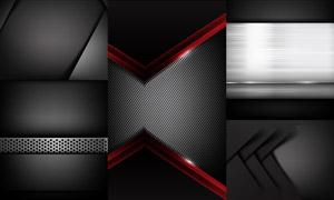 黑色質感效果金屬背景主題矢量素材