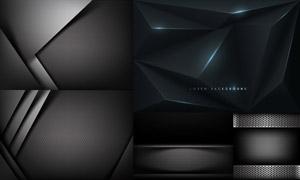 碳纖維等黑色背景創意設計矢量素材