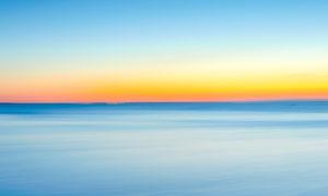 早晨天空中美丽的云海摄影图片