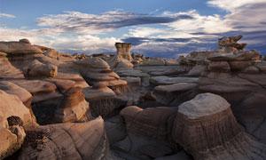 壯觀的巖石地形地貌攝影圖片