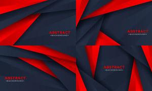 紅黑配色幾何圖形抽象背景矢量素材