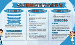 春季预防感冒病毒小常识展板设计PSD