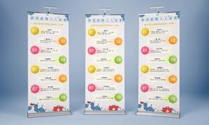 新型冠状病毒防护八件事宣传展架设计