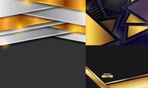 质感金属配色几何背景创意矢量素材