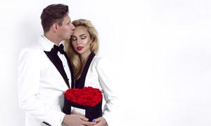 浪漫温存时刻男女人物摄影高清图片