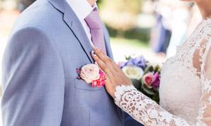 海誓山盟新郎新娘人物攝影高清圖片
