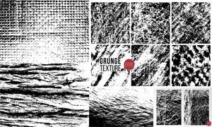 黑白颓废斑驳效果纹理背景矢量素材